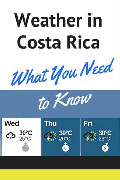Traveling during the rainy season? Check out our article about the weather in Costa Rica and learn why you shouldn't worry about the forecast!
