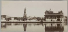 Amritsar (India): view of Golden Temple. Metropolitan Museum of Art (New York, N.Y.). Department of Islamic Art. Ernst Herzfeld Papers. #india #amritsar #temple #victorian #clocktower