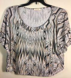 ELLA MOSS Women's Short Sleeve Patterned Top - Size Small (S) #EllaMoss #Blouse #Casual