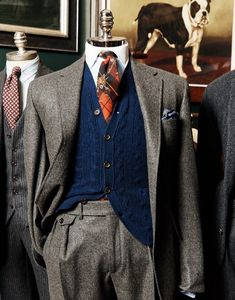 All this with red preachers pride boots, master hunter gun belt, default holsters and grey crusher or grey cavalier hat. Preppy Mens Fashion, Mens Fashion Suits, Mens Suits, Dapper Suits, Dapper Men, Gq Mens Style, Style Outfits, 3 Piece Suits, Well Dressed Men