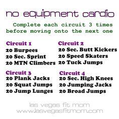 No Equipment Cardio Workout