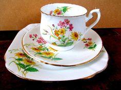 Art Deco / Vintage China Tea Set trioT.Forester,Phoenix China.British.