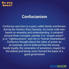 Wordoor Chinese - Do you know? # Confucius and his politics.