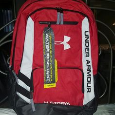 Red black and white Under Armour backpack Red black and white Under Armour backpack brand new with tags Under Armour Bags Backpacks