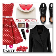 """""""Hot Red Dress"""" by angelstar92 ❤ liked on Polyvore featuring Acne Studios, Fendi, NARS Cosmetics, Bobbi Brown Cosmetics, women's clothing, women, female, woman, misses and juniors"""