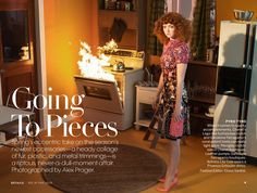 visual optimism; fashion editorials, shows, campaigns & more!: going to pieces: lily cole by alex prager for us vogue march 2013