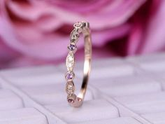 BartUSGem {Etsy Shop} | Diamond & Amethyst Ring