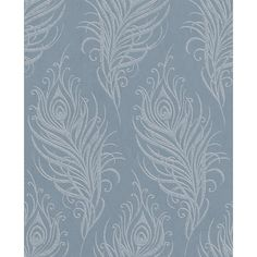 A beautiful example of a traditional wallpaper design made for today�s consumer.  This swaying leaf print motif creates a really calming and effective effect in repeat and this blue colourway oozes luxury.