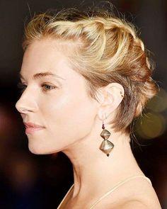 Acconciature eleganti capelli corti - Capelli corti con trecce
