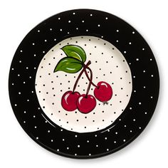Cherry decorative plate <3 #Cherries