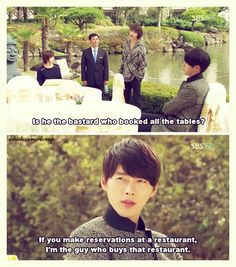 Hell yeah, because you're freaking HYUN BIN. Secret Garden - such a great show!