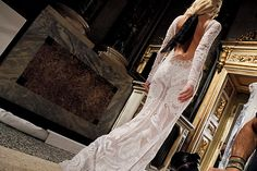 A white Pucci dress. Loving the white and the lace. And the detailing in the the fabric, lovely!