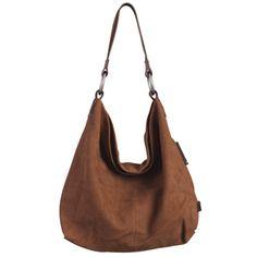 Sadie Nubuck Hobo: Brown by ellington handbags