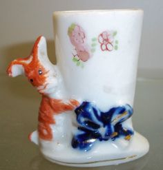 Occupied Japan Dog Toothpick Holder Porcelain China Figurine | eBay