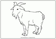 Lots of goat colouring pages for the kids to print and colour. including a billy goat colouring page and a goat dot to dot too. Coloring Pages To Print, Free Printable Coloring Pages, Colouring Pages, Coloring Pages For Kids, Print Pictures, Colorful Pictures, Goat Picture, Animal Categories, Color Crafts