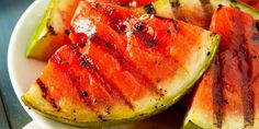 Ripe healthy organic grilled watermelon with honey stock photo Grilled Watermelon, Grilled Fruit, Watermelon Recipes, Watermelon Salad, Grilled Desserts, Mint Salad, Watermelon Slices, Healthy Grilling Recipes, Healthy Summer Recipes