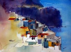 The Country Of Sun & Beach by Henry Arifin #watercolor jd