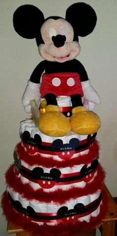 Mickey mouse diaper cake Lmadrigalellis@gmail.com