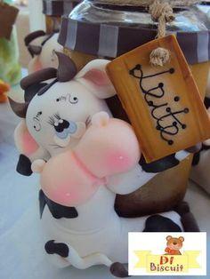 Cute cow jar