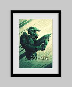Halo  Master Chief  Poster  by RonGuyatt on Etsy  #halo #fanart
