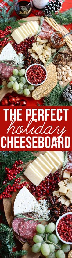 Learn how to create the perfect holiday cheese board this season in just five simple steps! I love to use an assortment of cheeses, fresh fruits and nuts, with a variety of meats, crackers and spreads