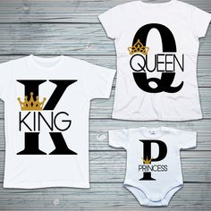 Zestaw king, queen, princess  #king #zestawrodzinny #queen #princess #bodziak #tshirt #koszulka #bodyniemowlece King Queen Princess