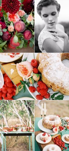Berry Farm Wedding Photo Shoot from Green Apple Photography | Style Me Pretty