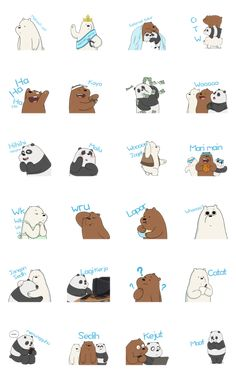 We Bare Bears Animated Stickers