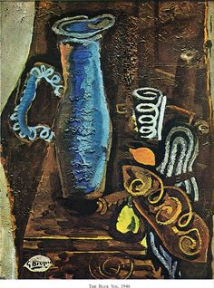 The Blue Jug by @gbraquefan #expressionism