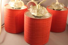 60er Jahre Deckenlampe Lampe Hängelampe 3x Zylinder 60s hanging lamp Rockabilly