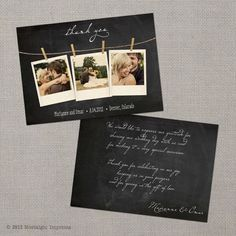 Vintage Wedding Thank You Cards by NostalgicImprints