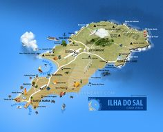 Ilha do Sal, Cabo Verde Islands Cap Verde, Verde Island, Atlantic Ocean, Trip Planning, Worlds Largest, Places Ive Been, Sailing, Deviantart, Map