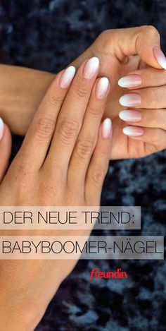 Baby boomer nails are the successors of classic French nails and are in demand everywhere. This is what they look like Baby boomer nails are the successors of classic French nails and are in demand everywhere. French Nails, Miss Marvel, Trending On Pinterest, Pinterest Pinterest, Clear Nail Polish, Manicure E Pedicure, How To Apply Makeup, Beauty Nails, Beauty Make-up
