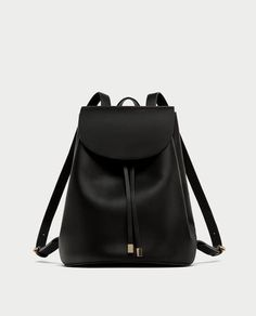 Image 2 of BACKPACK WITH FOLDOVER FLAP from Zara