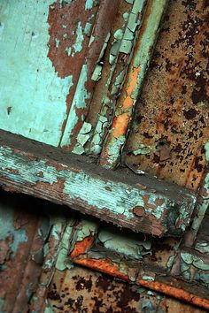 it reminds me of Helsinki color.  I like the abstract texture in this image I think it would be effective if I interpreted a model into this picture with the skin crumbling off where the rust is.