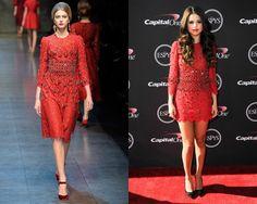 Look de Dolce&Gabbana otoño-invierno 2013 / Selena Gomez en la alfombra roja de los premios Espy 2013