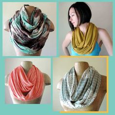 EcoShag's Handmade Infinity Scarf Giveaway - Summer Style in Summer's Hottest Color Trends