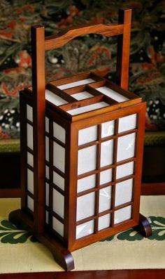 im03 - japanese interior shoji andon table lamp