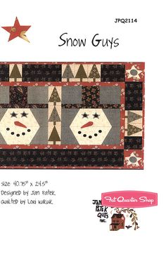 Snow Guys Table Runner Pattern Jan Patek Quilts - Fat Quarter Shop