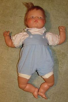 """VINTAGE 1960s THUMBELINA DOLL - Ideal Toy Corp OTT-19 21"""" clean works"""