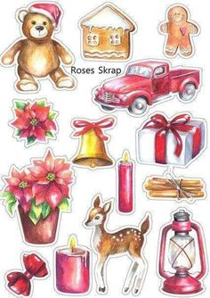 VK is the largest European social network with more than 100 million active users. Christmas Pictures, Christmas Art, Winter Christmas, Vintage Christmas, Christmas Decorations, Journal Stickers, Planner Stickers, Diy And Crafts, Paper Crafts