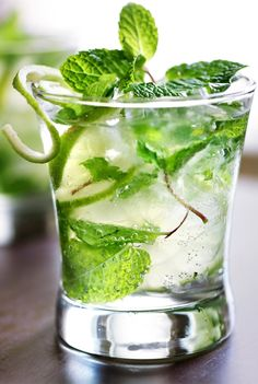 A simple combination of cool mint, crisp lime and as much or as little rum as you'd like. Click for our Cuban Mojito recipe.