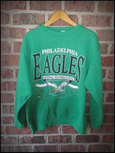 Vintage 90's Philadelphia Eagles Classic Logo Crewneck by CharchaicVintage, $18.00