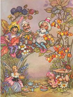 Faeries and Little Folk: Peg Maltby's Fairy Folk Vintage Fairies, Vintage Art, Vintage Kids, Fairy Paintings, Baby Fairy, Fairytale Art, Flower Fairies, Fairy Art, Magical Creatures