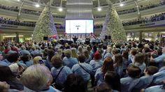 "Zach Sobiech KS95 Largest ""Clouds"" Choir. 5,000 people sing ""Clouds"" at MOA to honor Zach Sobiech."