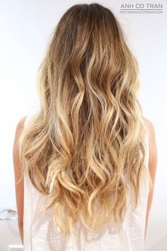 How to get beachy waves: braid your hair into two or three sections, depending on the thickness of your hair. Then run ur straightener over them a few times. Unbraid and ta-da! U can also sleep with a french braid in for a more uneven look.