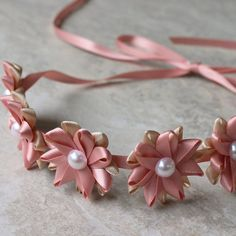 Blush and Champagne Headband Blush Headband by PetalPerceptions, $15.00