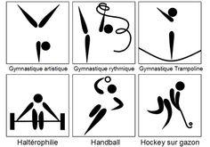 Symboles et pictogrammes: les sports olympiques d'été