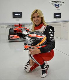 María de Villota Comba (1980-2013) Spanish racing driver, who sustained serious head and facial injuries (including losing an eye),  during an accident whilst a Marussia Formula One team test driver mariadevillota.es