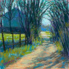 """Daily Paintworks - """"On the Drive Home (and Invite to the APS Reception!)"""" - Original Fine Art for Sale - © Rita Kirkman Paintings I Love, Small Paintings, Pastel Paintings, Pastel Landscape, Landscape Paintings, Landscapes, Country Art, Pastel Art, Tree Art"""